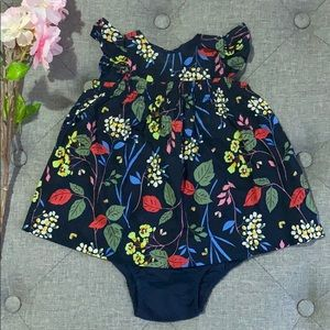Baby Gap floral dress and bloomers